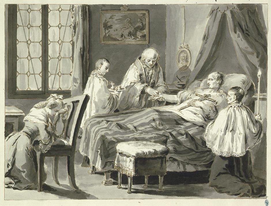 TABLEAU POÉTIQUE DES SACREMENTS EN GÉNÉRAL.  Vicomte Walsh – 1852 Pietro_Antonio_Novelli_Sakramente_Krankensalbung