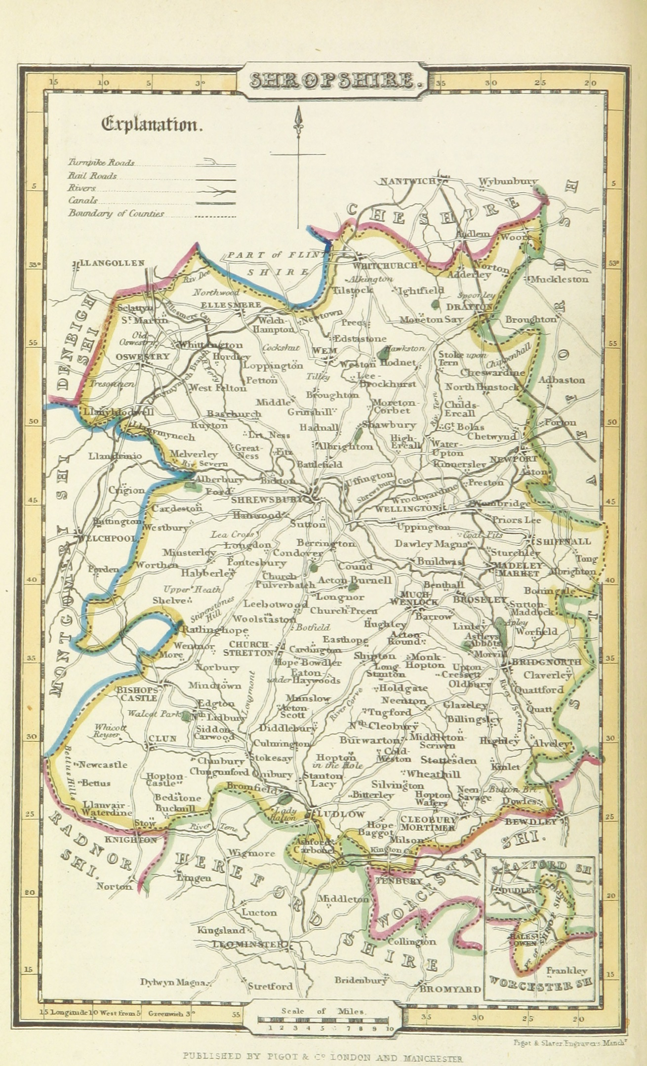 Map of Shropshire 1842