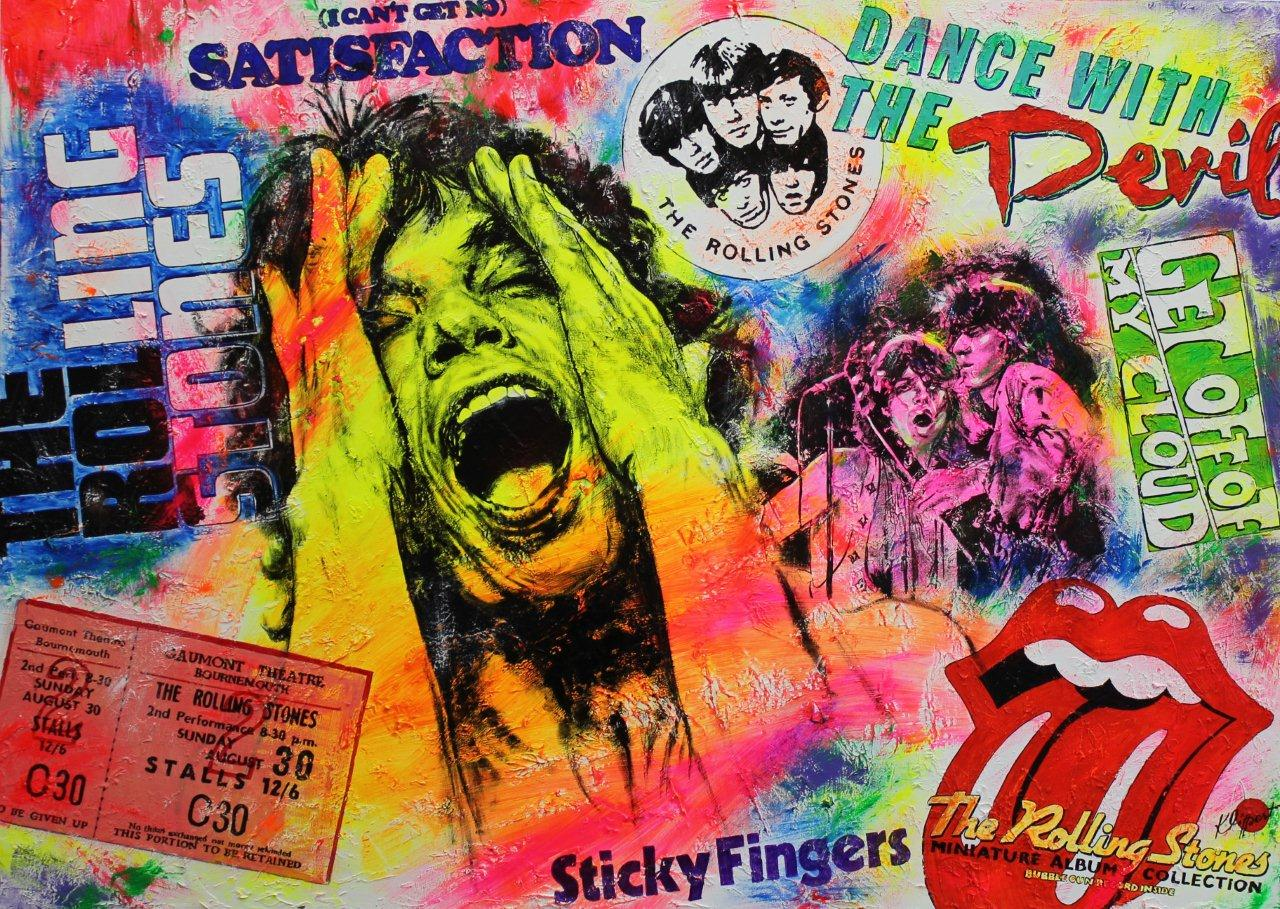 "File:Pop-Art ""Mick Jagger"" Öl + Acryl auf Leinwand von Silvia Klippert.jpg  - Wikimedia Commons"