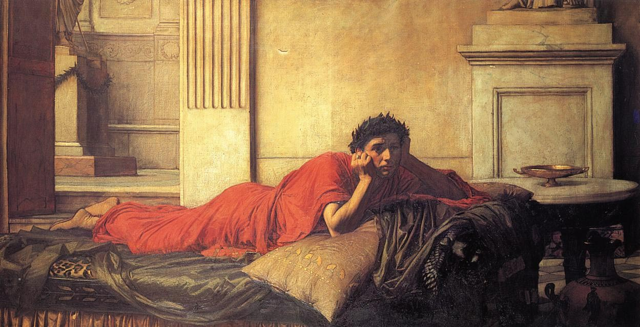 The Remorse of the Emperor Nero after the Murder of his Mother, by John William Waterhouse, 1878.