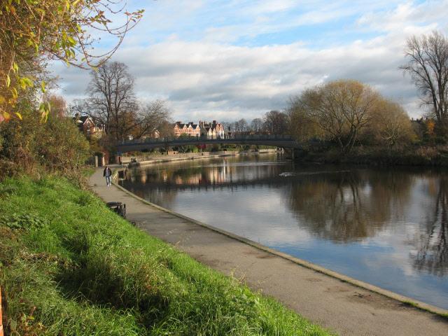 River Severn above the weir at Shrewsbury - geograph.org.uk - 1071562
