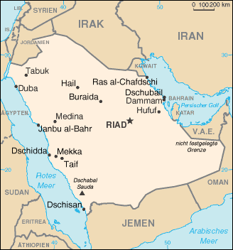 Karte Saudi-Arabiens
