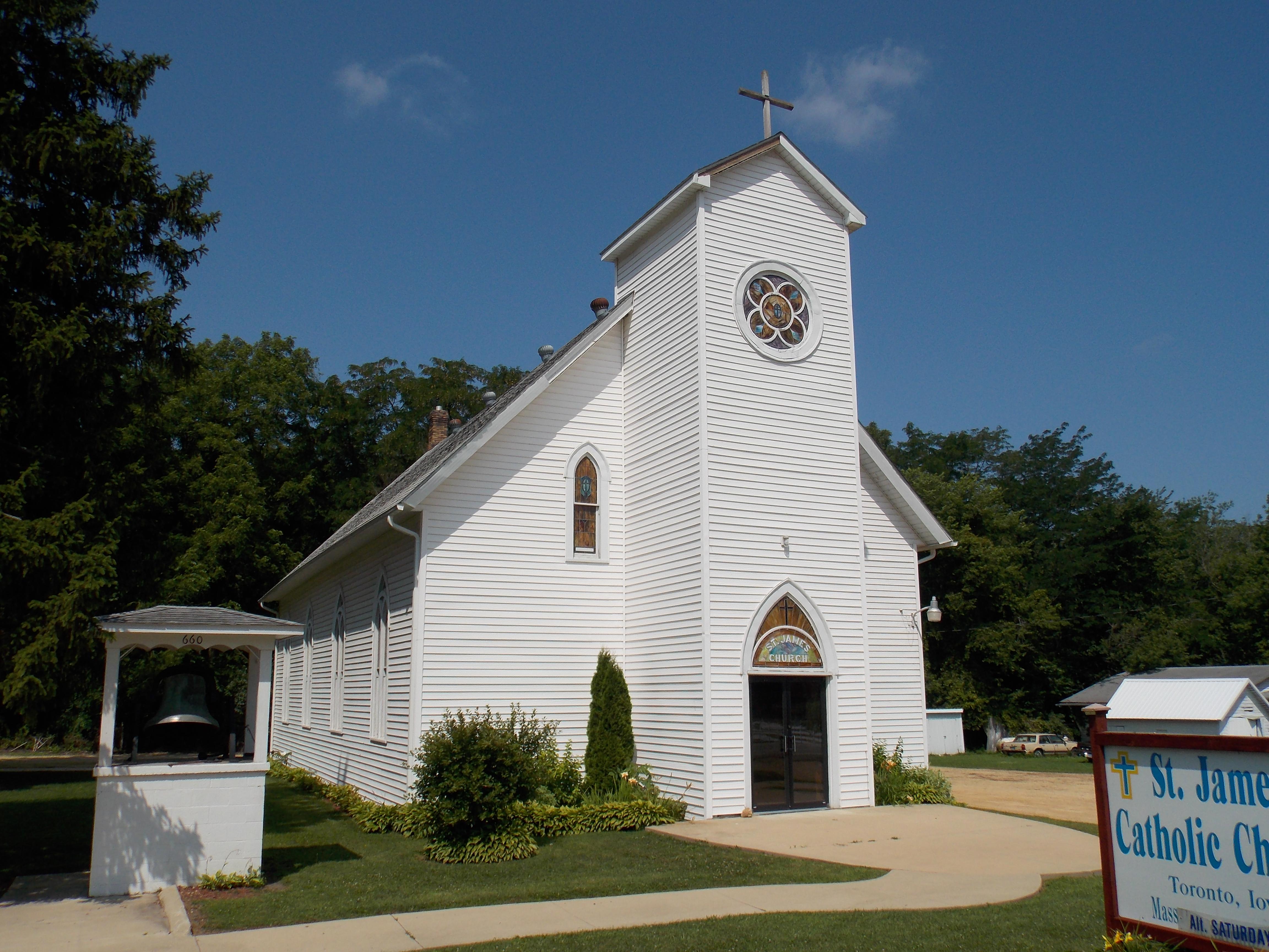 ملف:Saint James Church - Toronto, Iowa JPG - ويكيبيديا، الموسوعة الحرة
