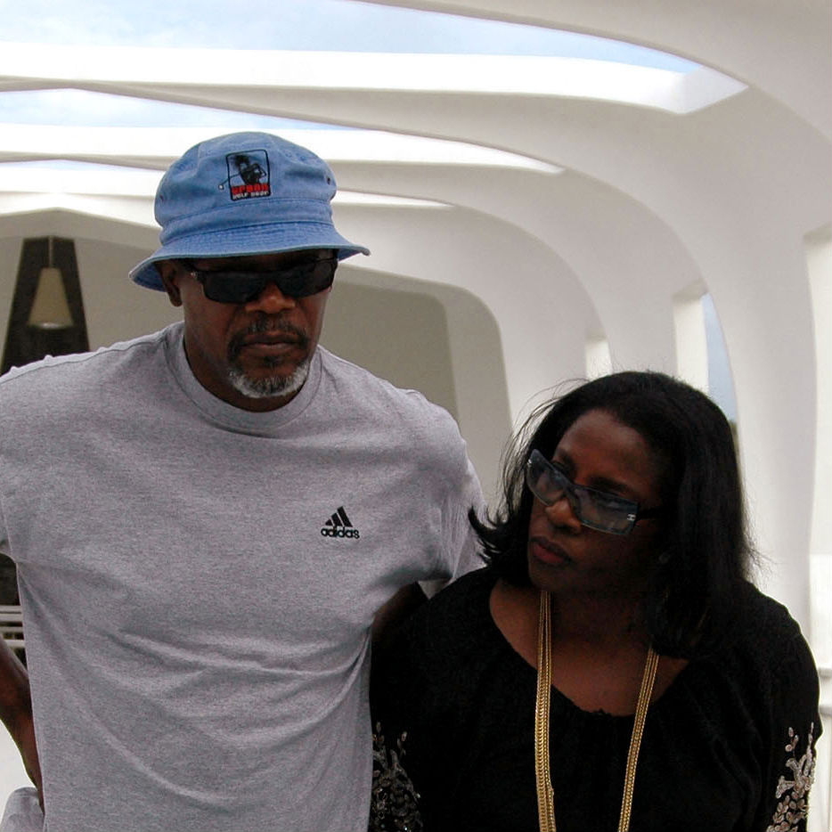 Samuel L. Jackson with friendly, fun, enchanting, Wife LaTanya Richardson
