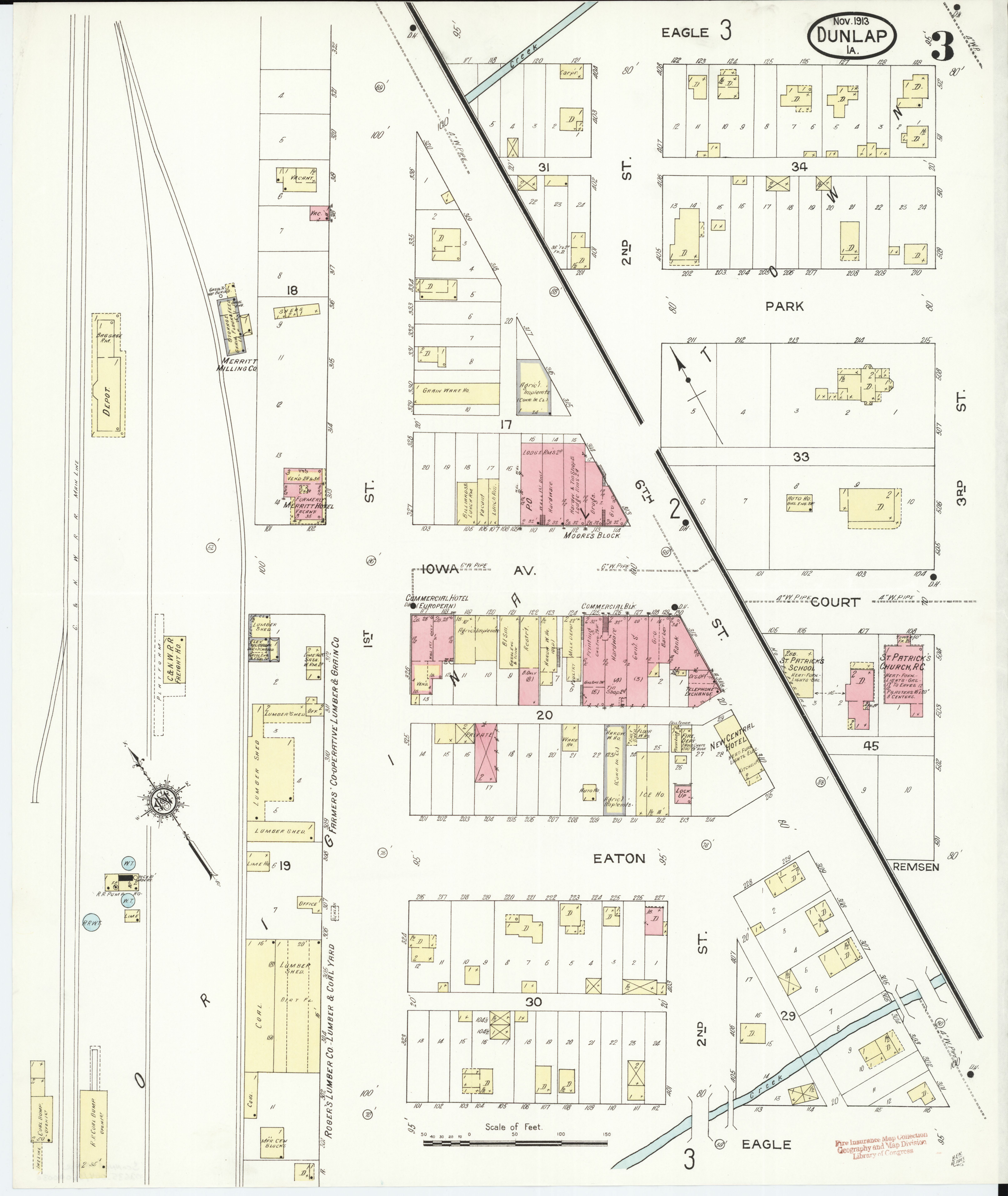File Sanborn Fire Insurance Map From Dunlap Harrison County Iowa