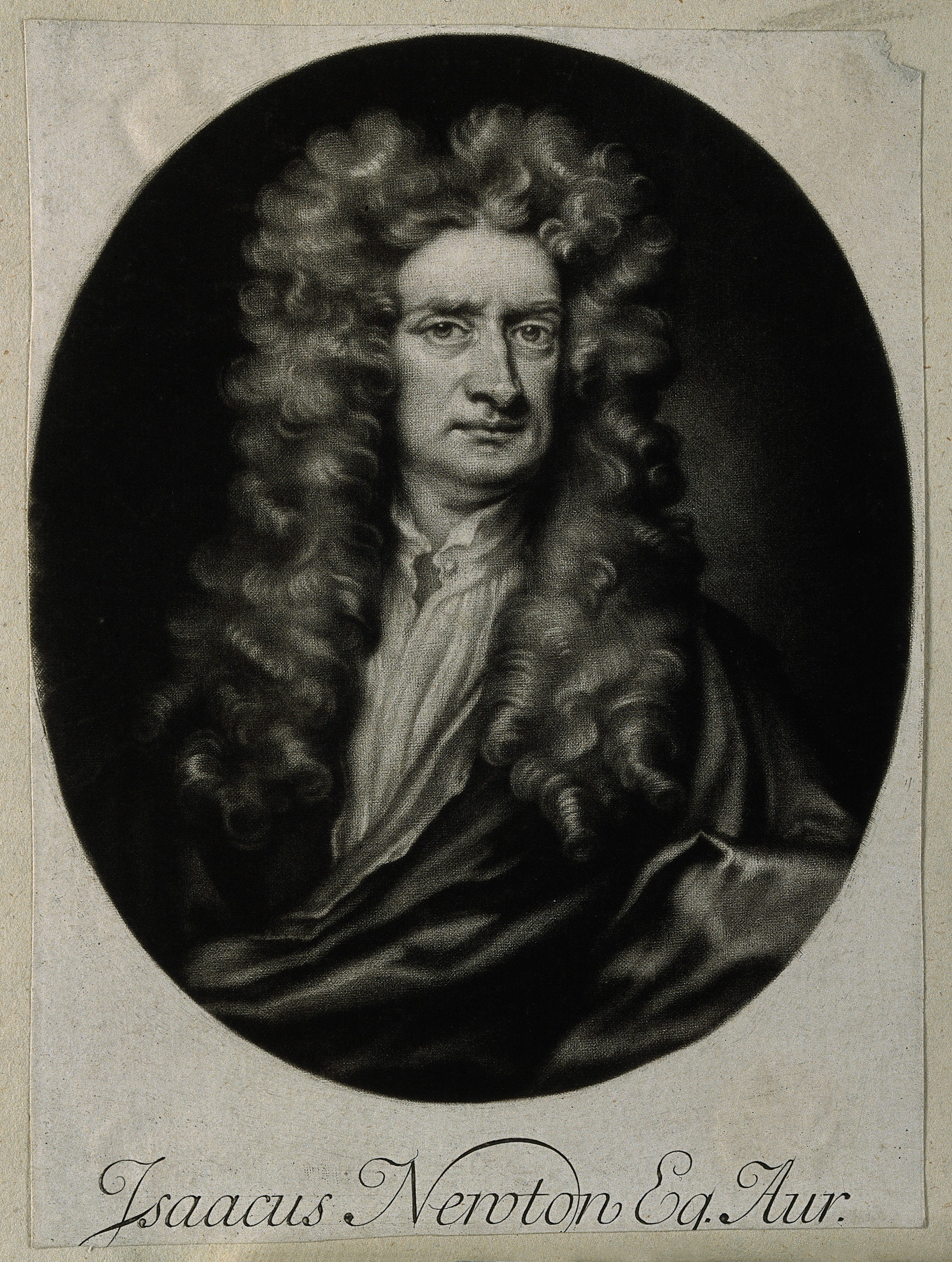 Mezzotint after J. Smith, 1712, after Sir