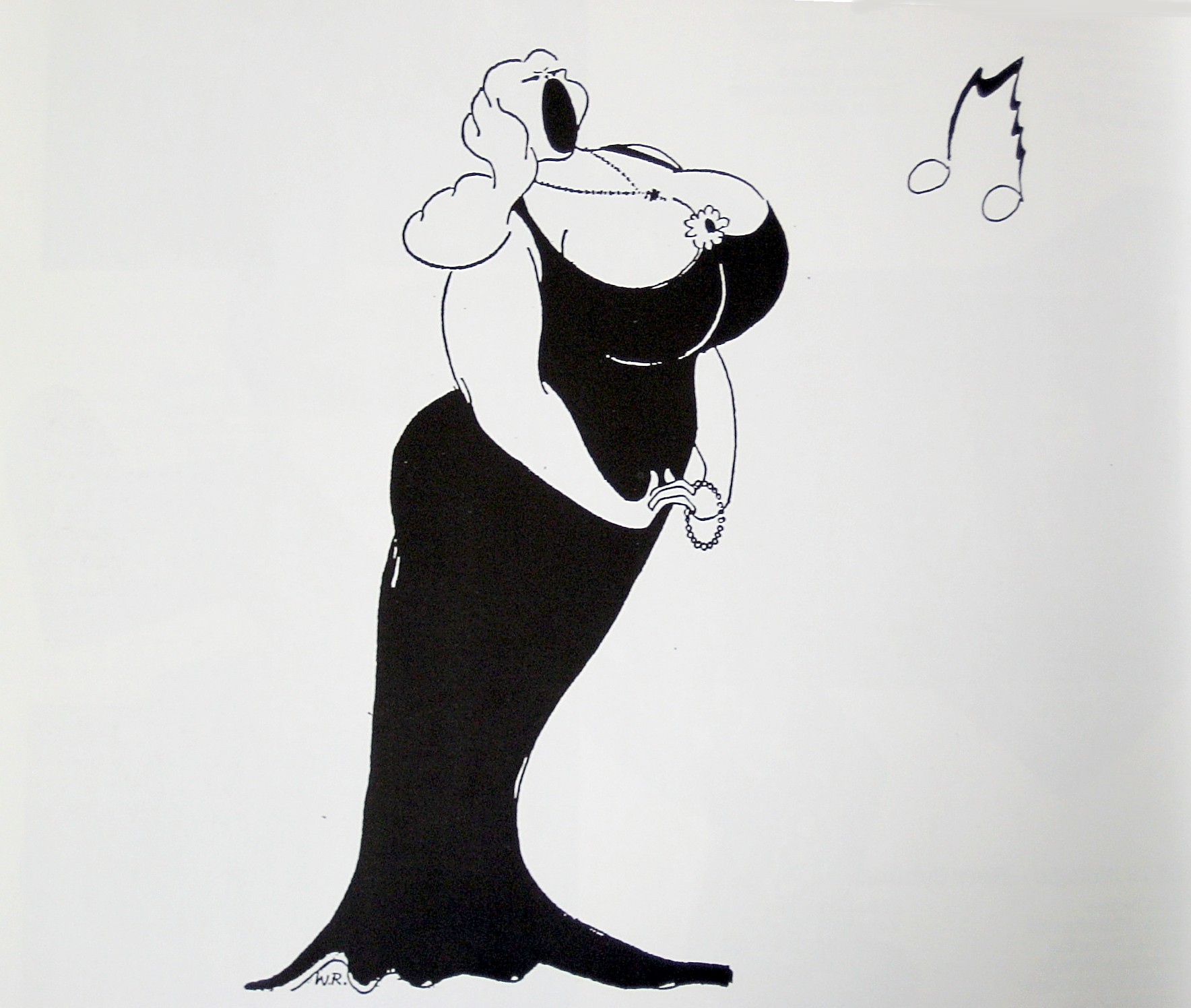 Karikatur Opernsängerin