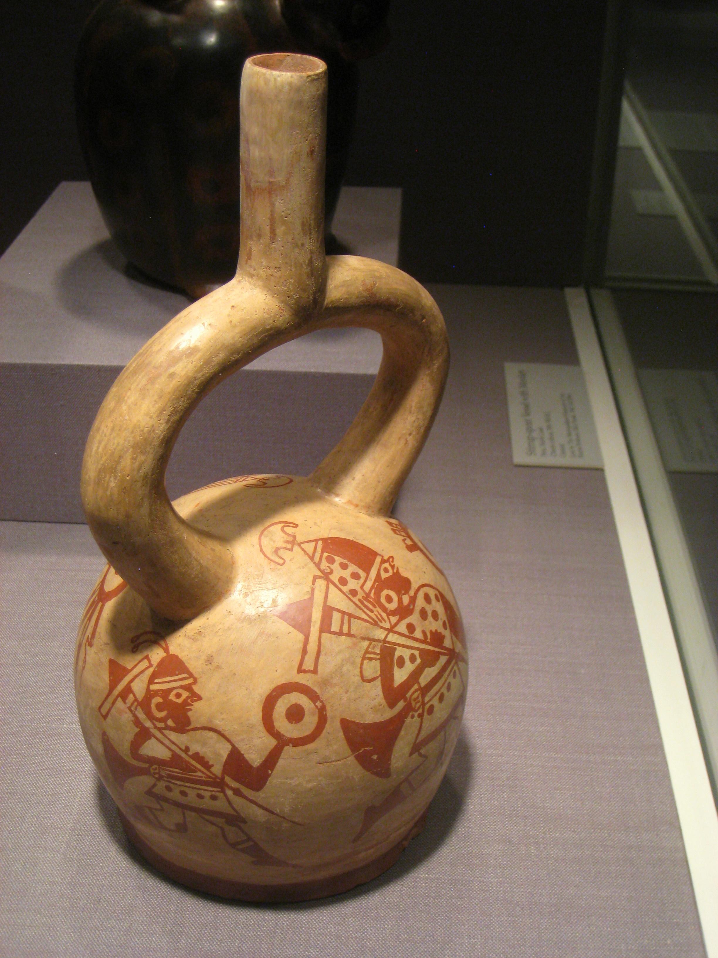 File Stirrup Spout Vessel Peru North Coast Moche Culture