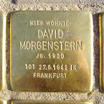 Stolperstein Fischerfeldstraße 16 David Morgenstern