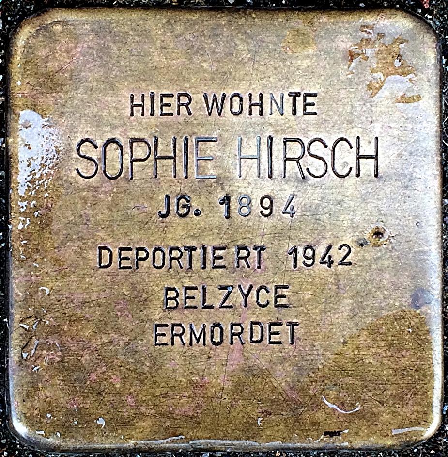 Stolperstein Hirsch, Sophie.jpg