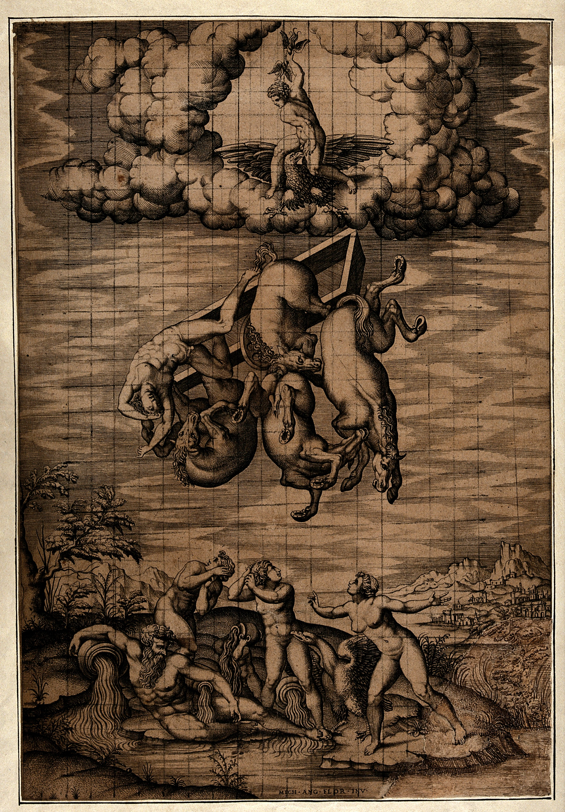 File:The fall of Phaeton. Engraving by N. Beatrizet after M. Buon