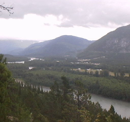 Skeena River and part of Thornhill, BC from Terrace Mountain Thornhillskeena.jpg