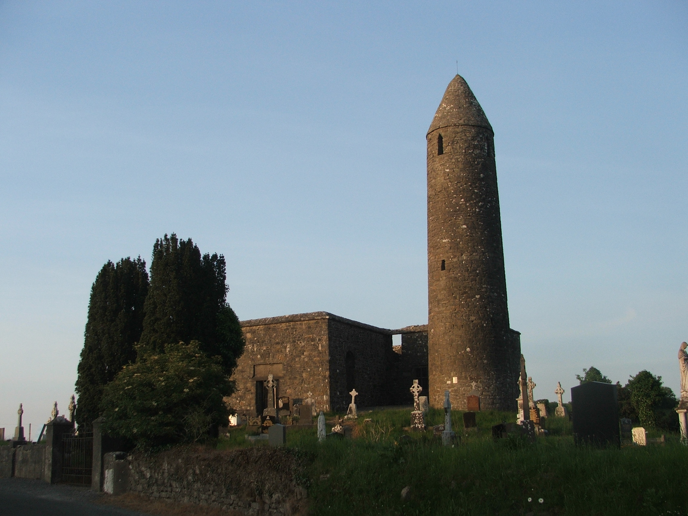 Via Wikipedia: The round tower at Turlough