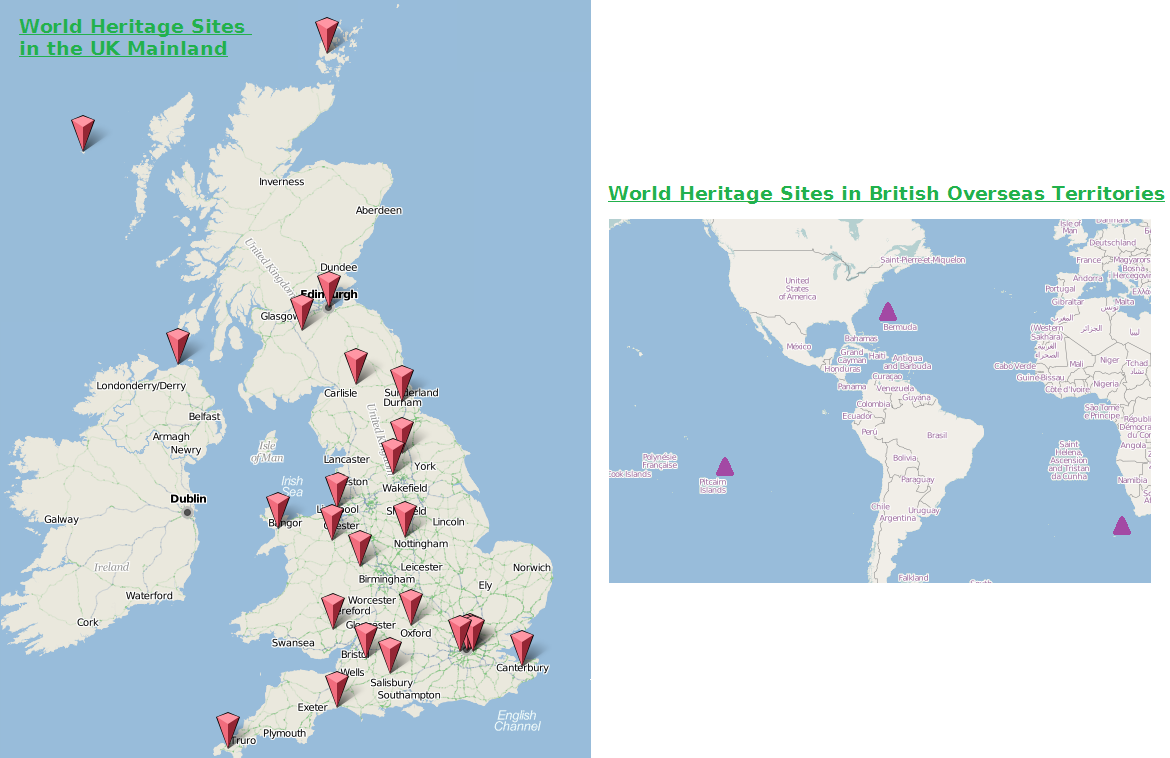 Great British Castles Map – United Kingdom Tourist Attractions Map