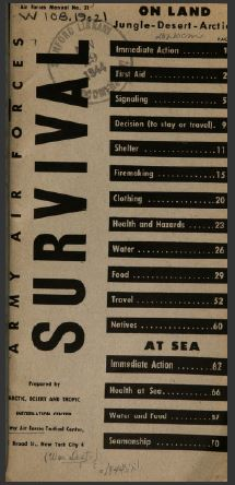 Survival handbook of the USAAF from 1944. USAAF Survival Manual.jpg