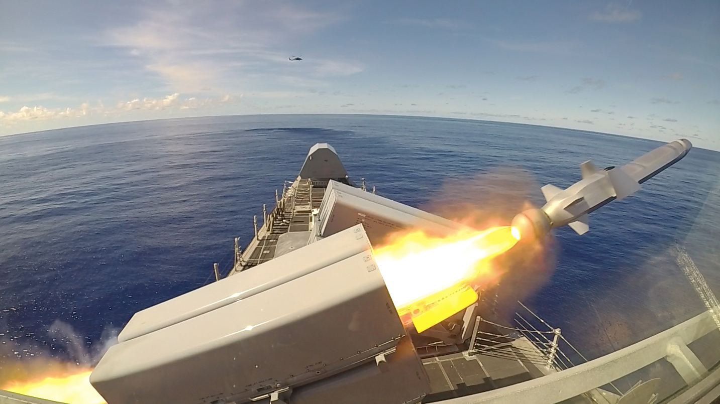 File:USS Gabrielle Giffords (LCS 10) launches a Naval Strike ...