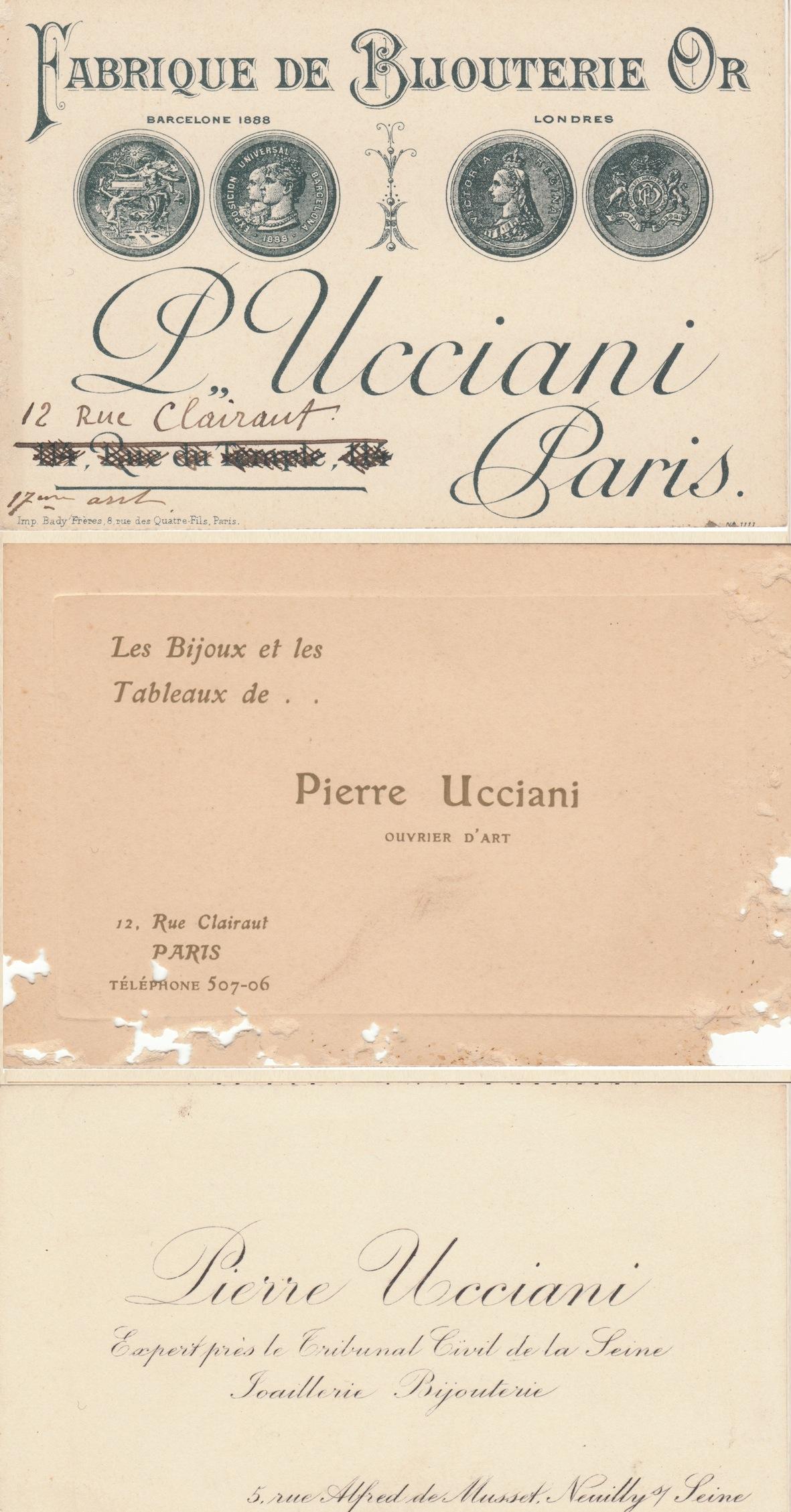 FichierUcciani Pierre Doc Cartes De Visite Fabrique Bijouterie Or Ouvrier