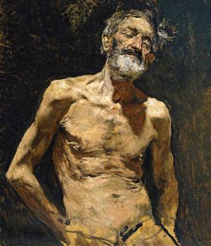 vell nu al sol de Marià Fortuny