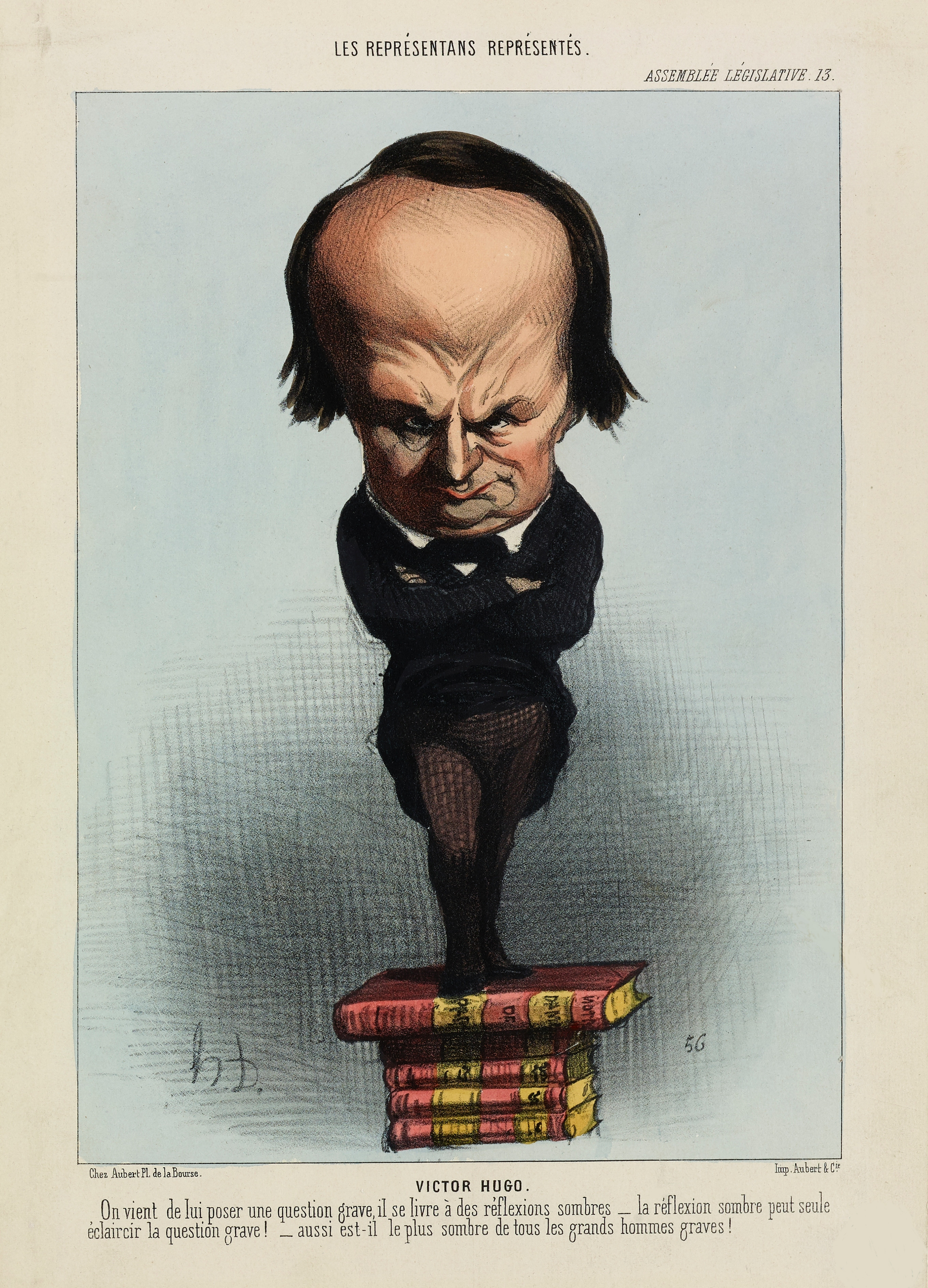 Caricature by Honoré Daumier, at the peak of Hugo's political career: