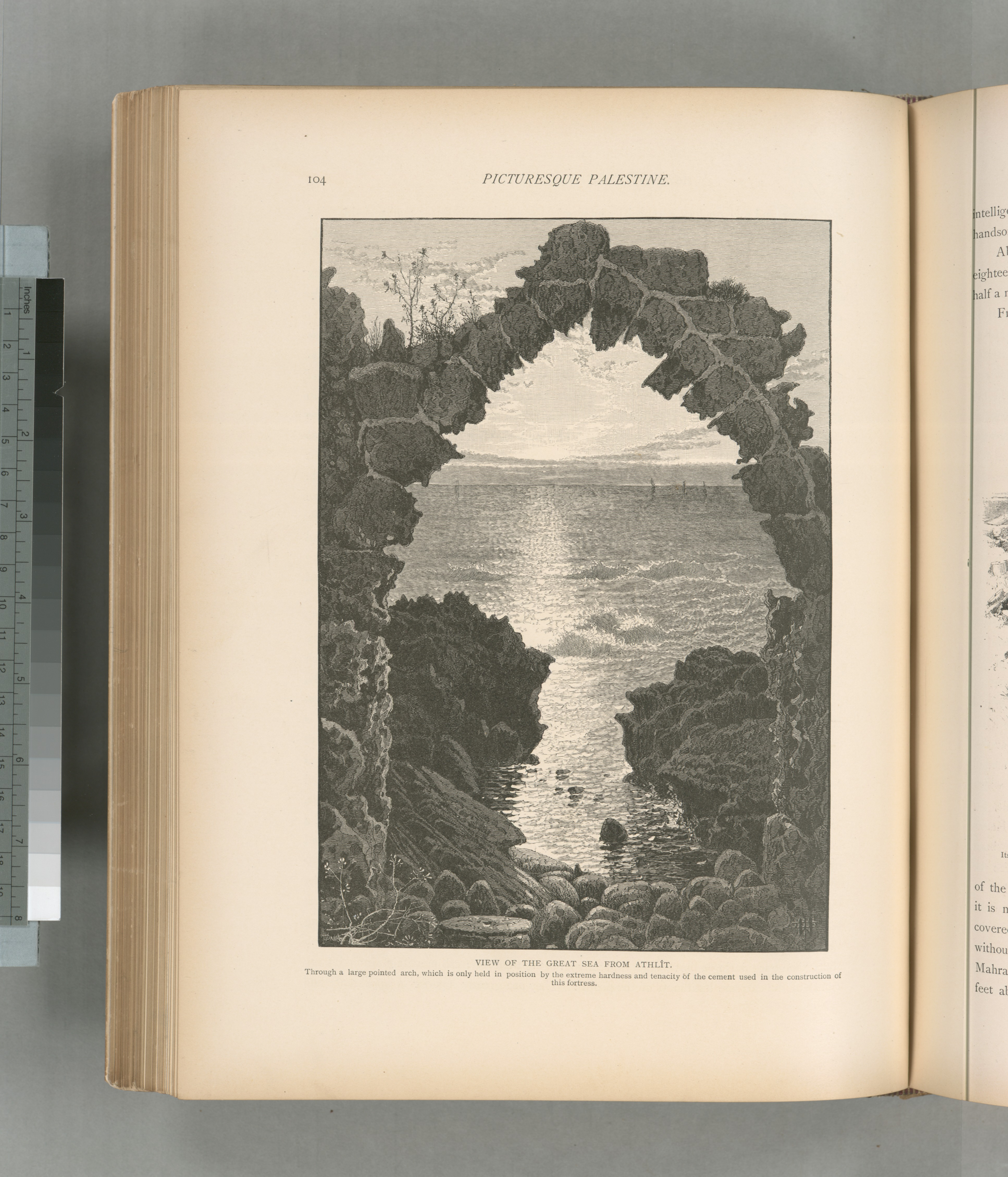File:View of the great sea from Athlît  Through a large