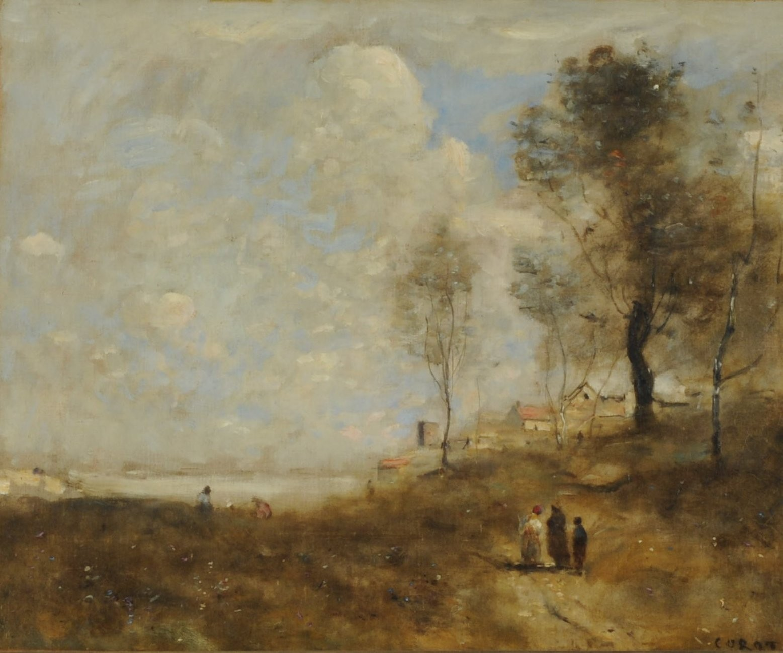 an interpretation of the ville davray by jean baptiste camille corot Jean-baptiste-camille corot, ville d'avray, woodland path bordering the pond, 1872 from the indianapolis museum of art:  during the first half of his career.