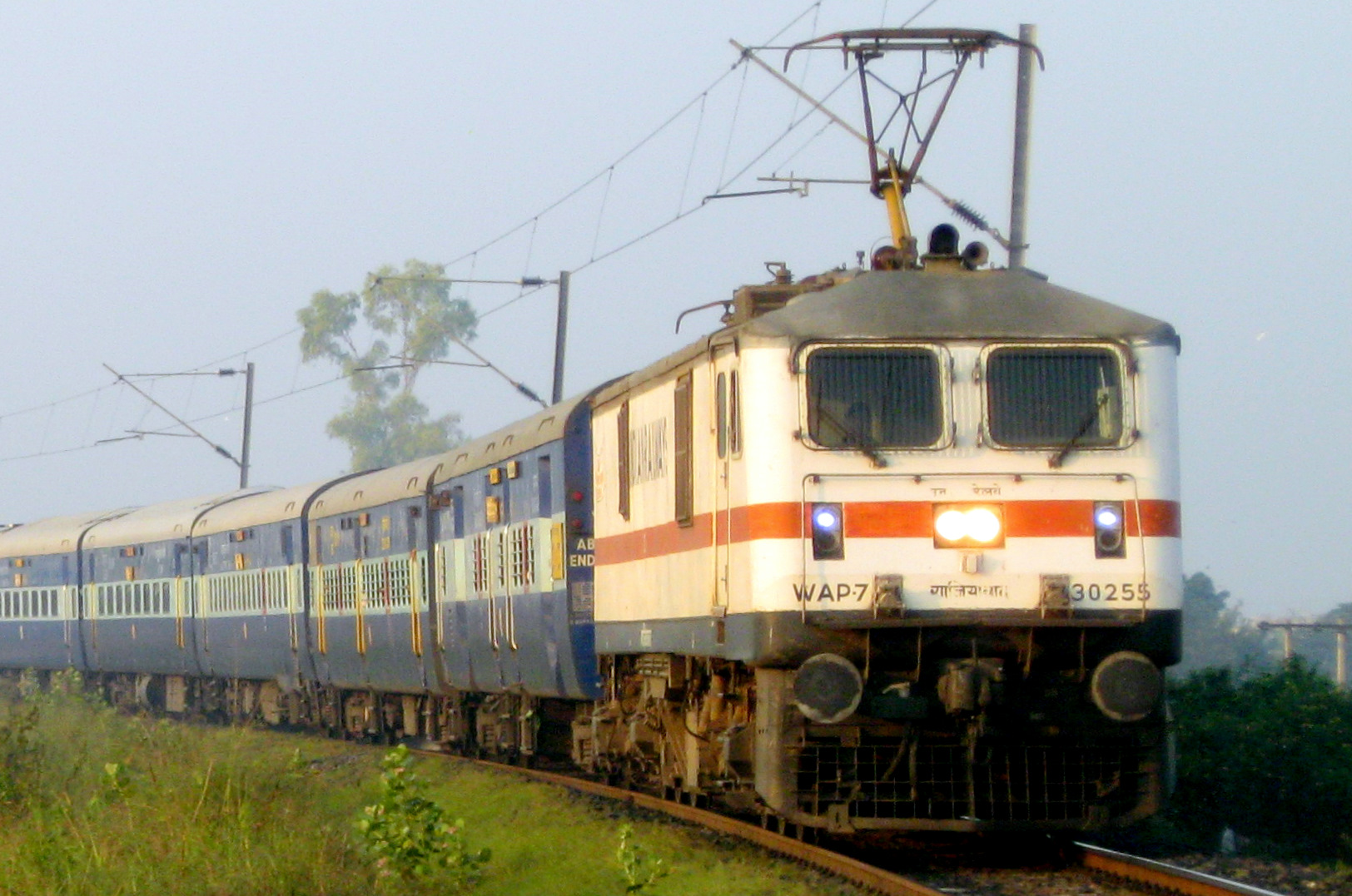 Indian Electric Train Front View