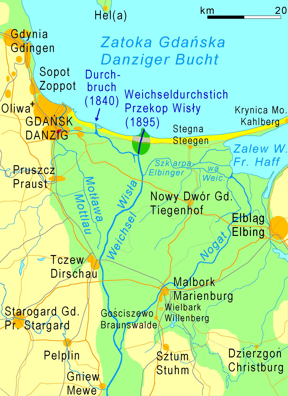 Fluss Weichsel Karte
