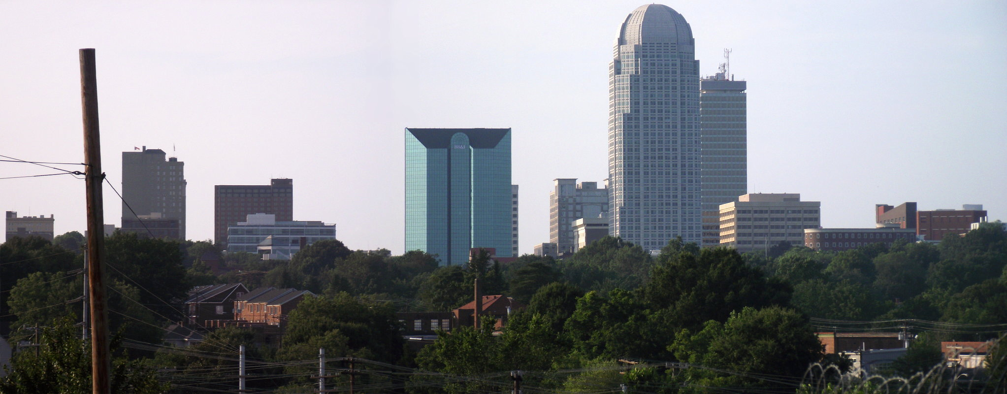 Winston Salem City Skyline