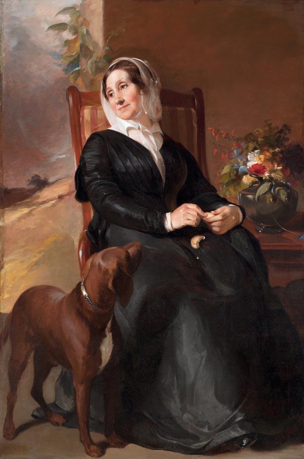 'Портрет Сары Салли и ее собаки Понто' работы Томаса Салли, Музей искусств Сан-Антонио.jpg