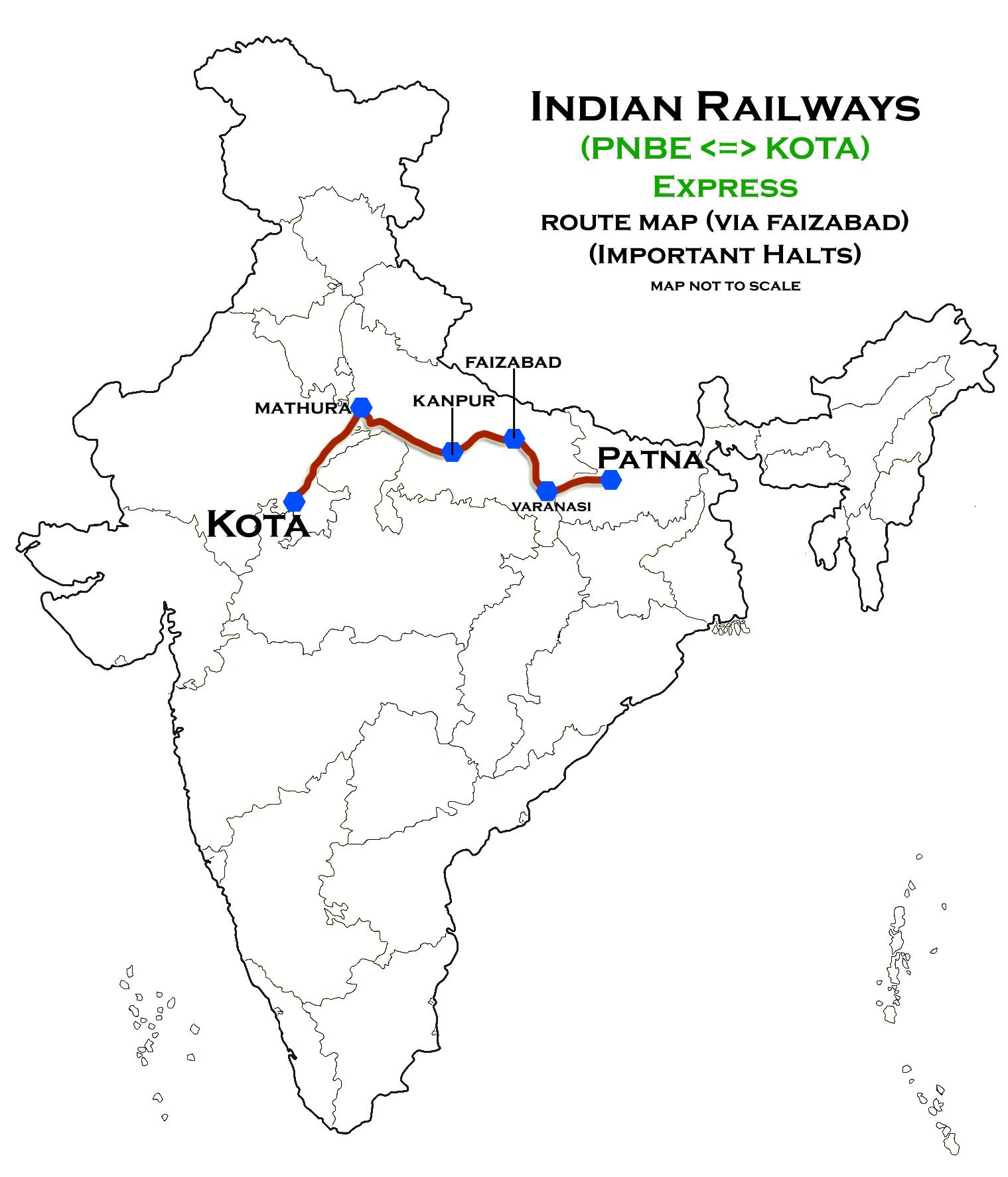 Patna In India Map.Patna Kota Express Wikipedia