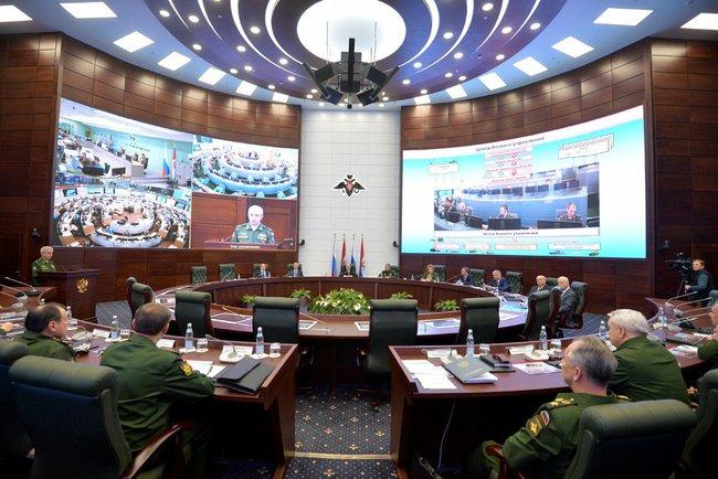 Kommandoraum des russischen Generalstabs