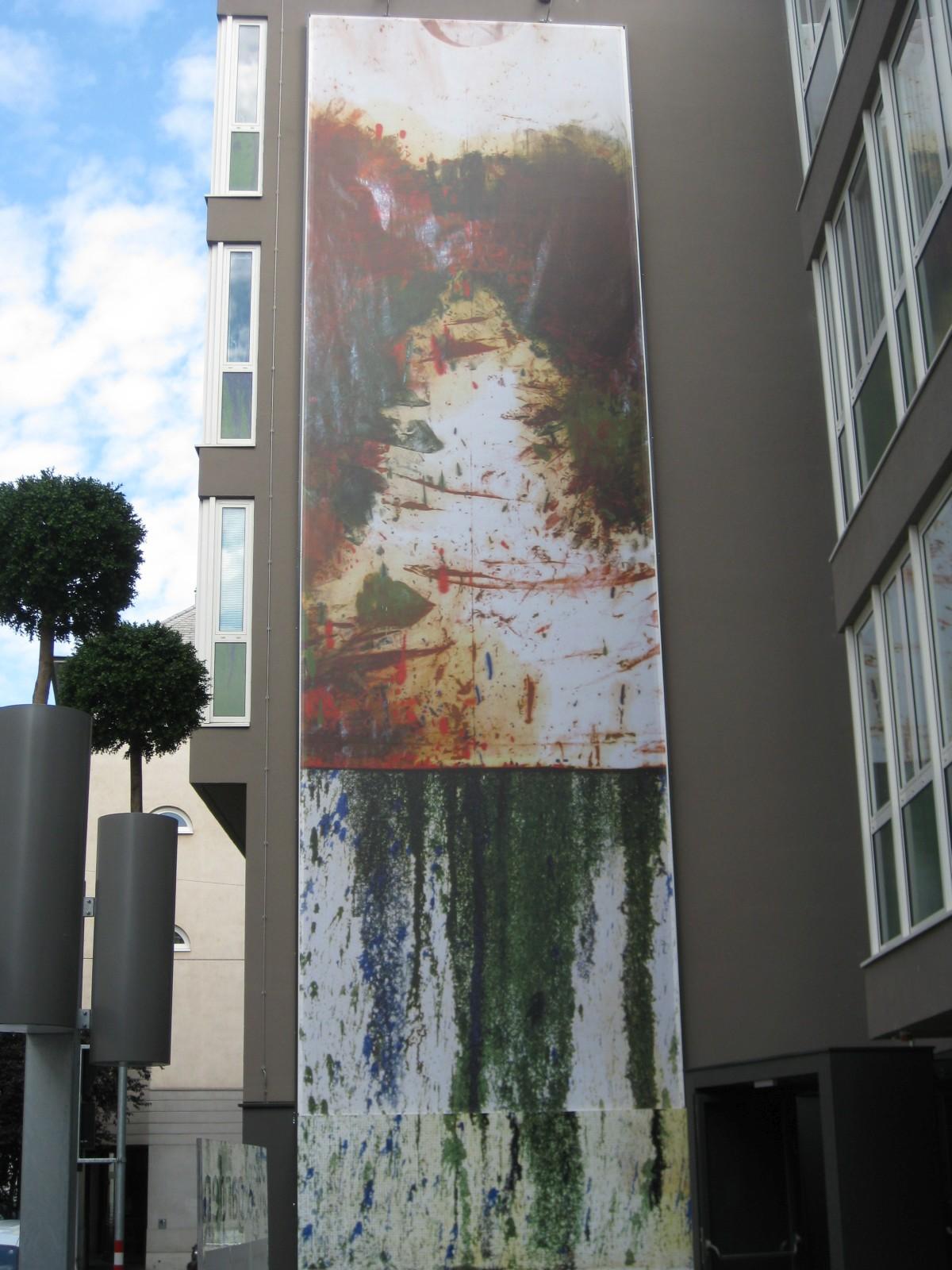 1020 Raimundgasse 3 art & garden Schüttbild von Hermann Nitsch in digitaler Form 2013 IMG 4422