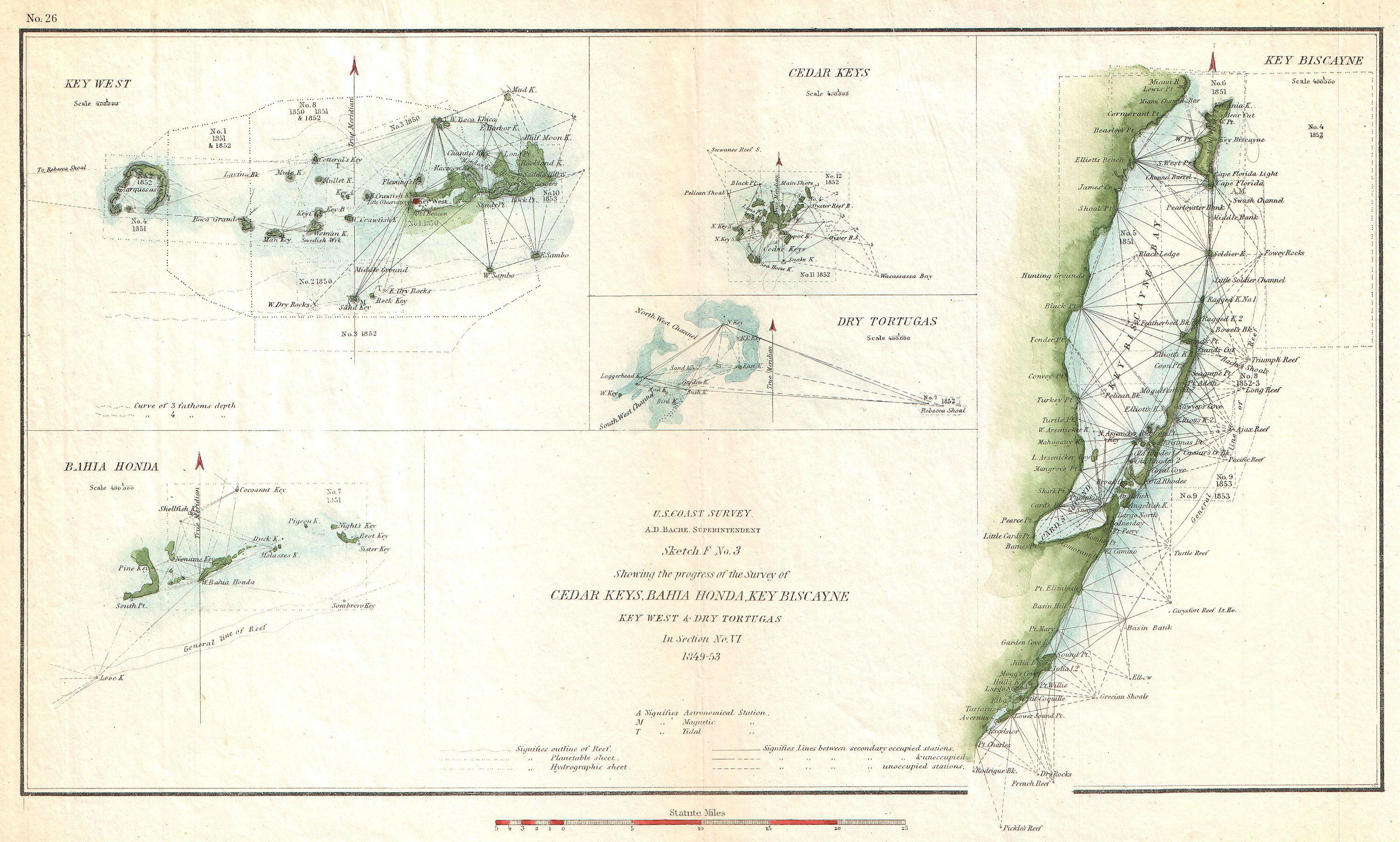 File 1853 U S Coast Survey Map Of Key Biscayne Bay Key West And The