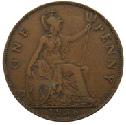 1936 George V penny reverse.png