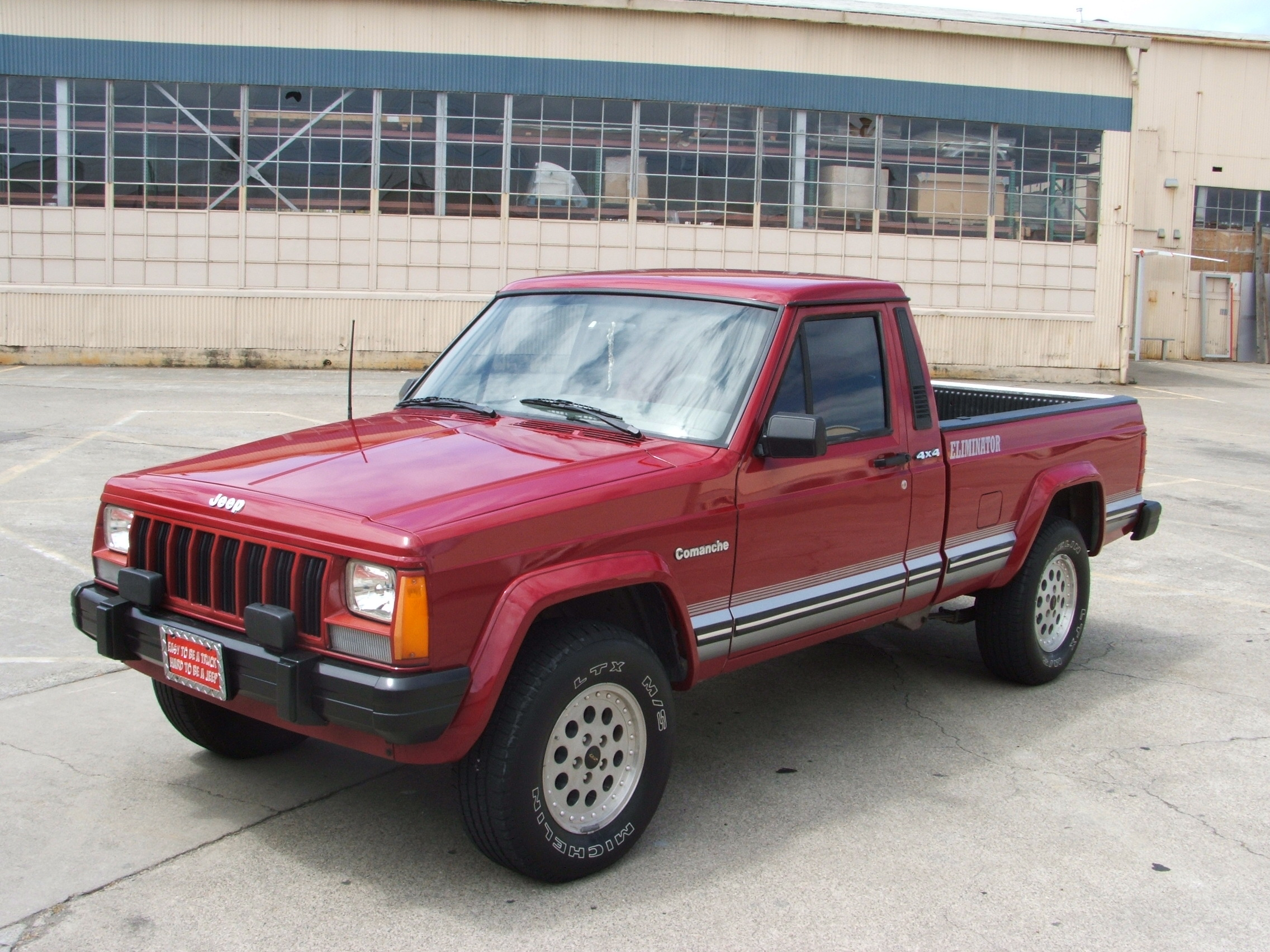 Old Mini Truck >> File:1990 Jeep Comanche Eliminator.jpg - Wikimedia Commons