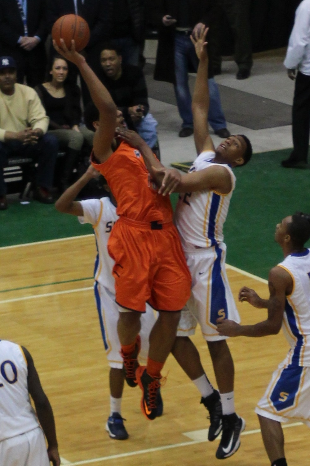 File:20130126 Jahlil Okafor shooting over Jabari Parker at ... Jabari Parker Shooting