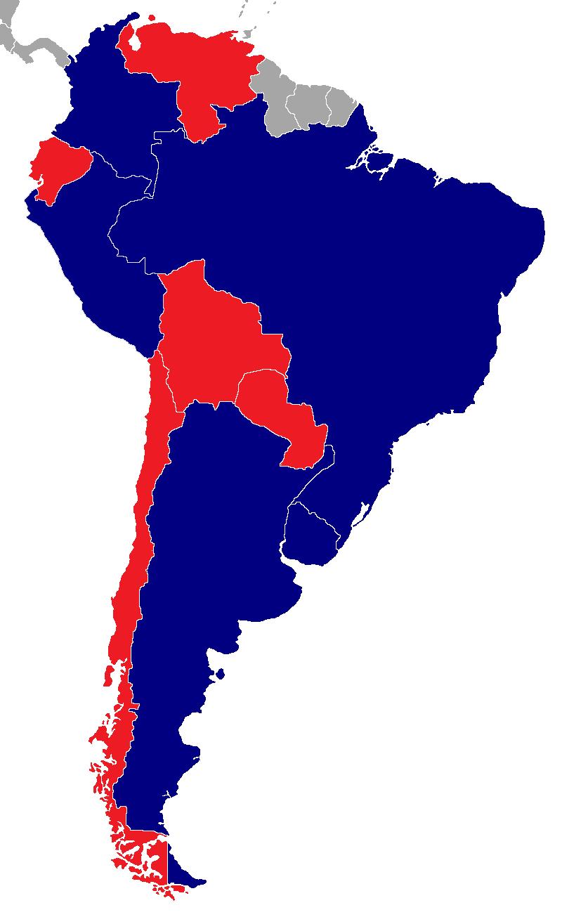 Bandera De Colombia Y Uruguay