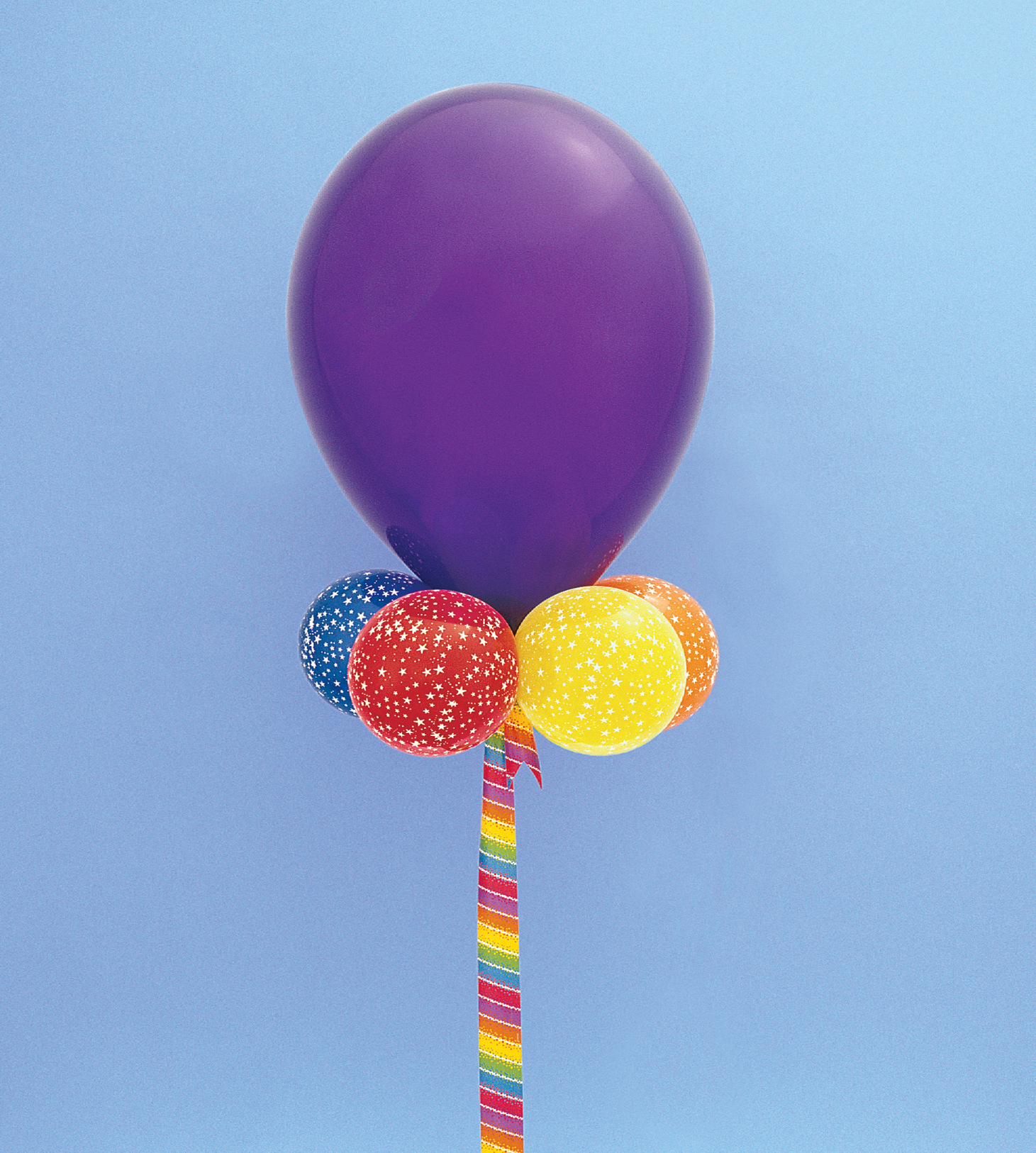 Balloons are often used as party d cor.