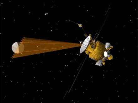Artist rendering of the Europa Clipper mapping the surface of Europa