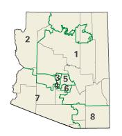 Arizona districts in these elections