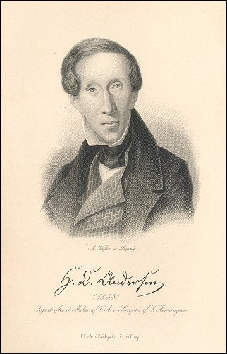 Hans Christian Andersen, 1835.