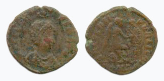 Aelia Eudoxia on a Roman coin