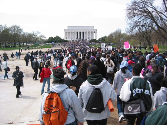 Affirmative Action supreme court demonstration 2003.jpg