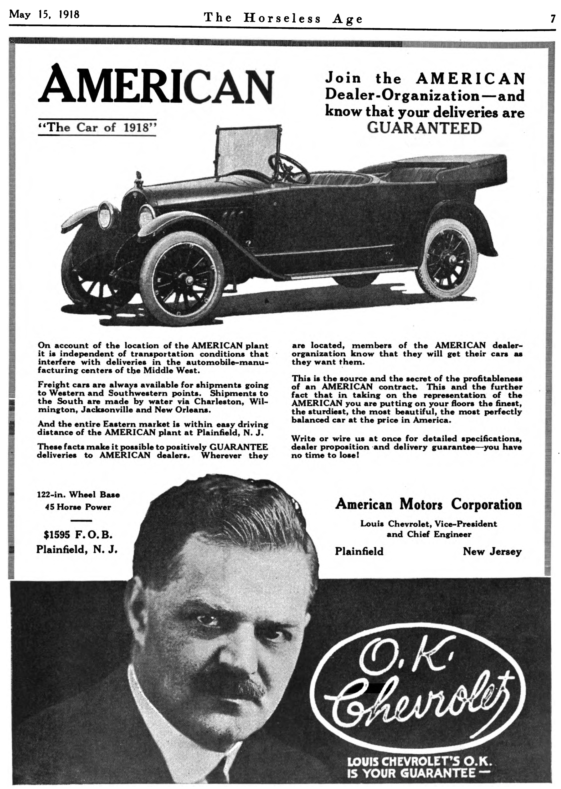 File:American Motors Corporation advert in Horseless Age v44 n4 1918 ...
