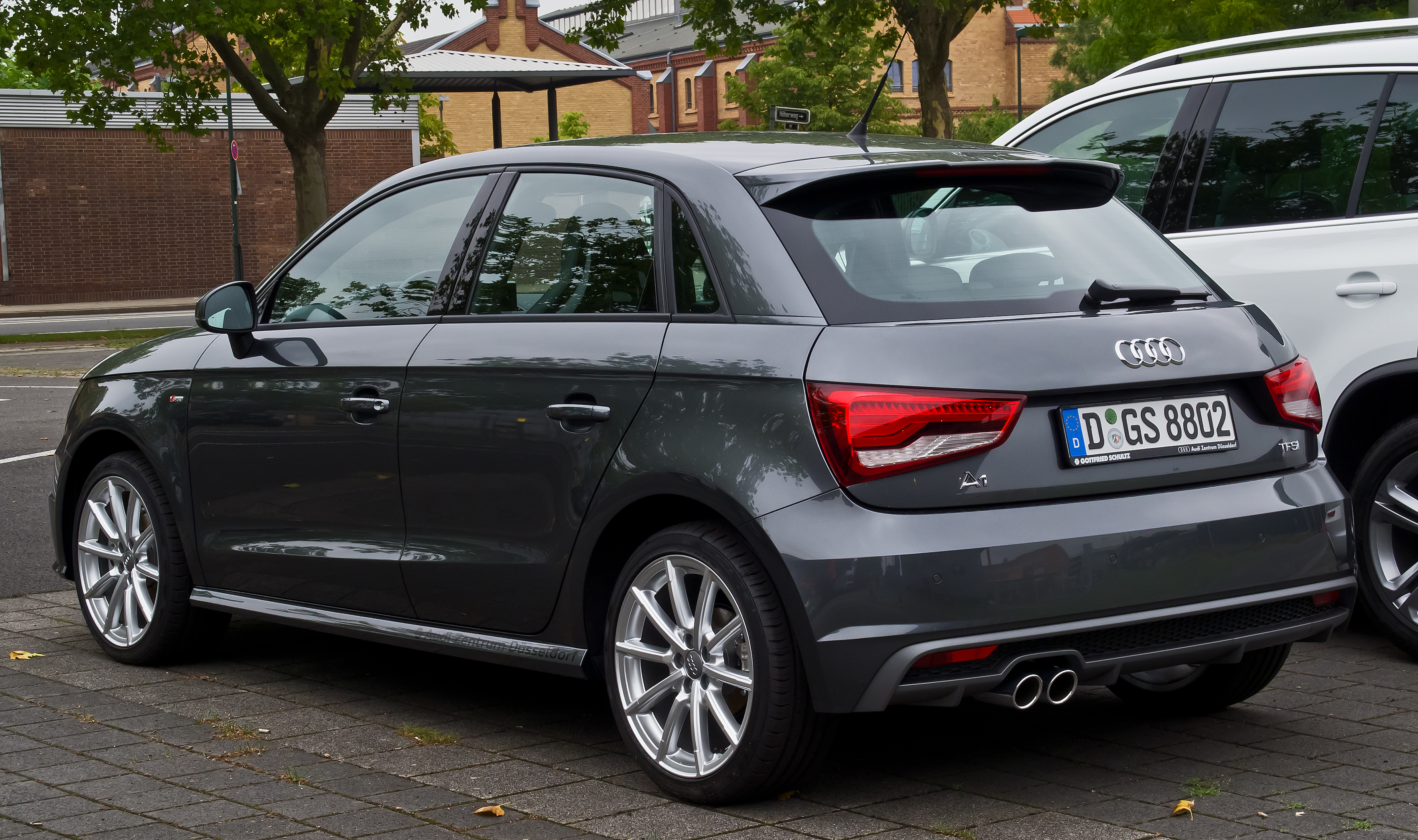 file audi a1 sportback 1 4 tfsi s line facelift heckansicht 8 august 2015 d. Black Bedroom Furniture Sets. Home Design Ideas