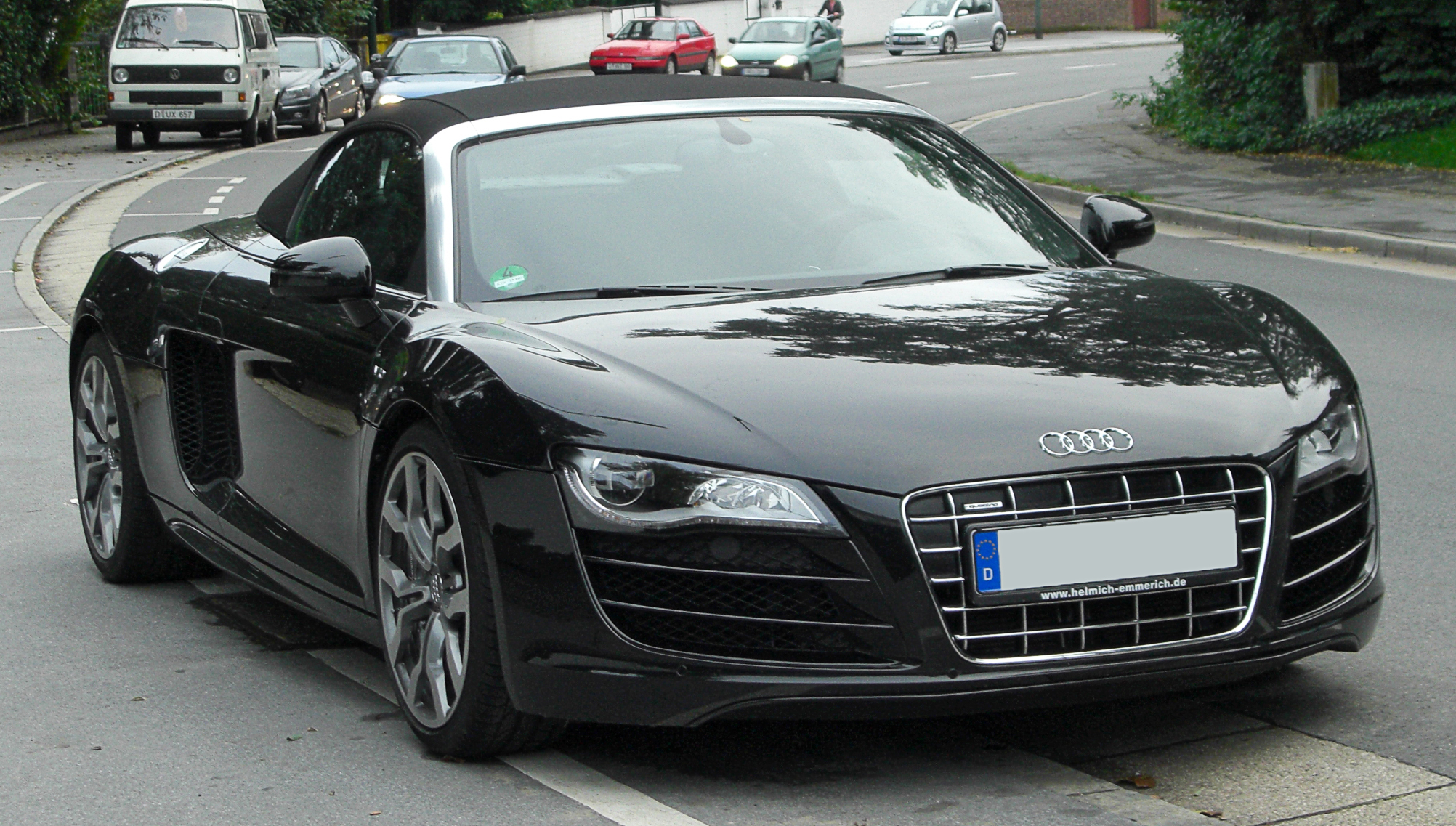 file audi r8 spyder v10 front wikimedia commons. Black Bedroom Furniture Sets. Home Design Ideas