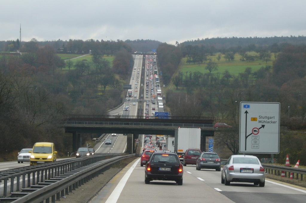Autobahn A 8 Stau