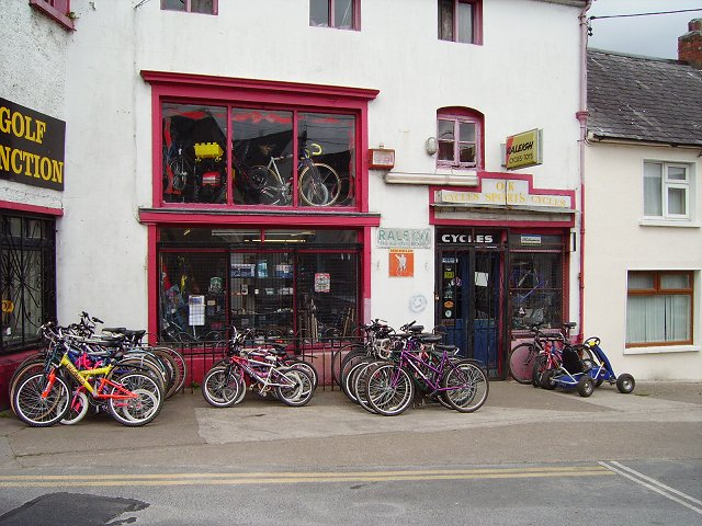 English: Bike shop, Carrick on Suir.