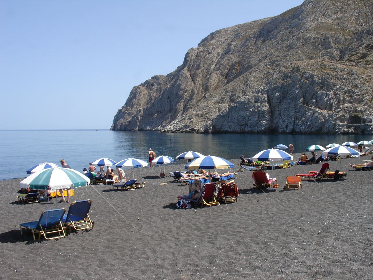 Bestand Black Beach In Ri Santorini Jpg