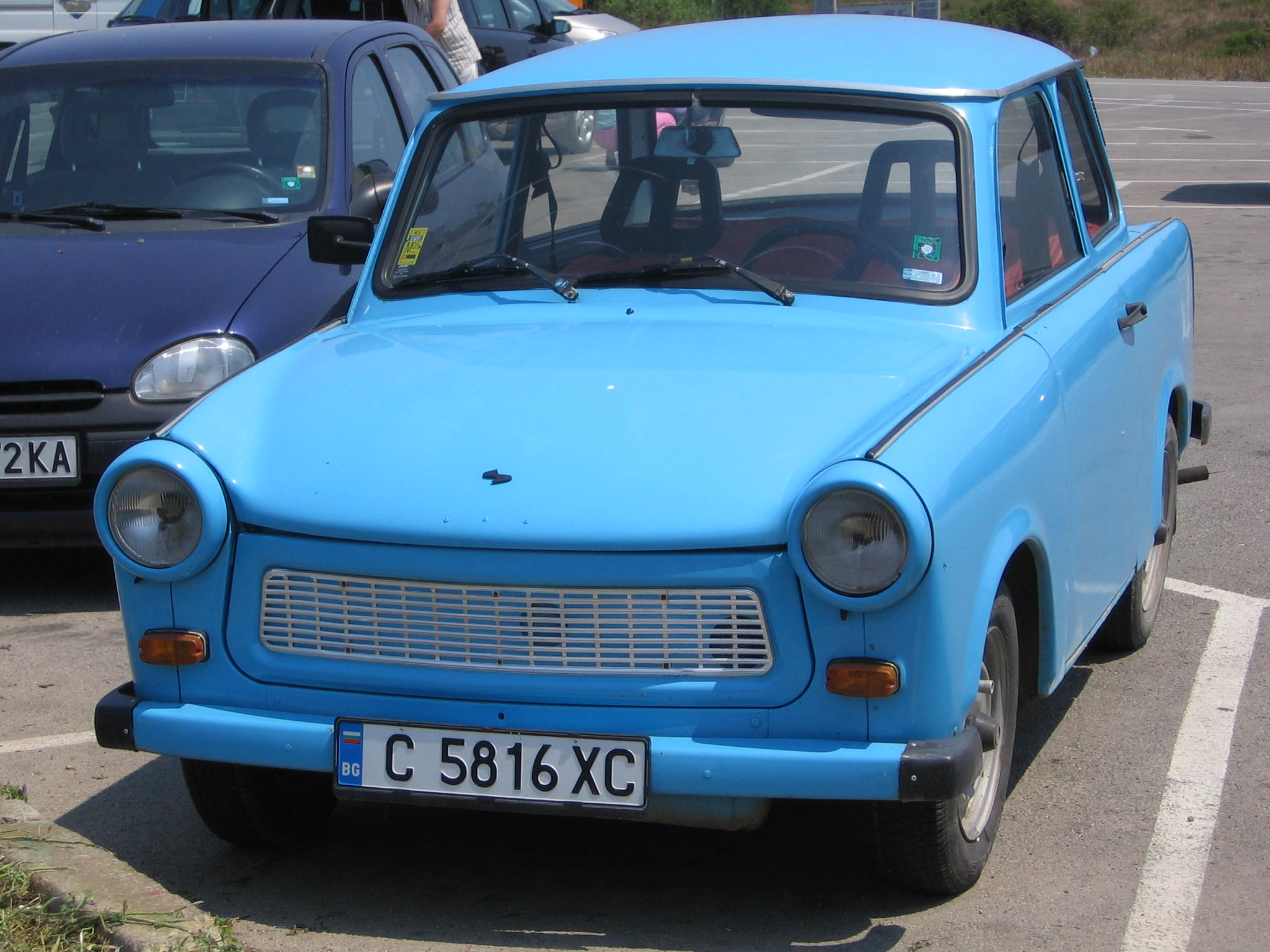 file blue trabant 601 in bulgaria wikimedia commons. Black Bedroom Furniture Sets. Home Design Ideas